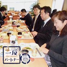 カシオ計算機株式会社さん社員食堂で「一反パートナー」のお米を食べてもらう「なのはな米プロジェクト」が今年も開催されました